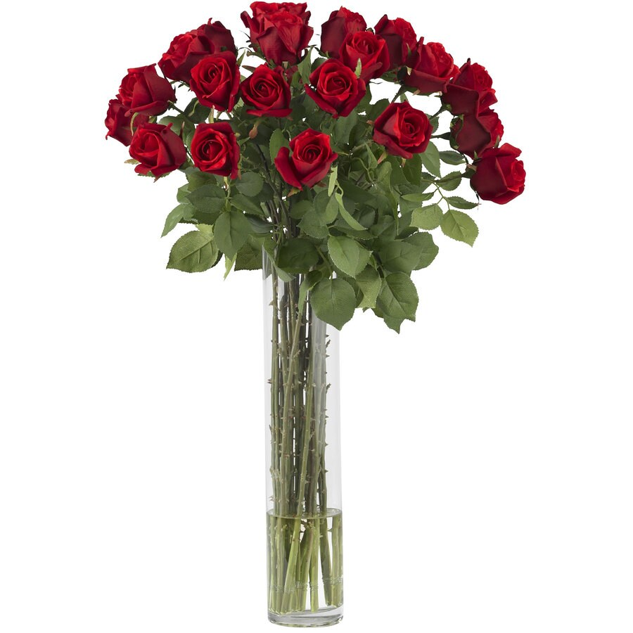 Nearly Natural 32-in Red Silk Arrangement