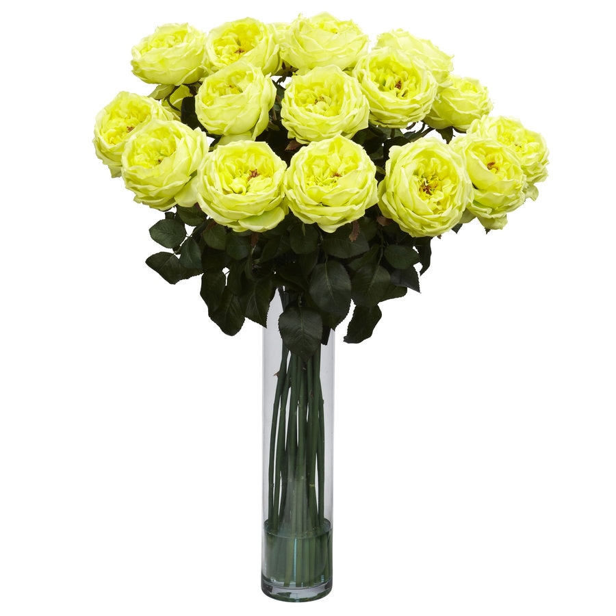 Nearly Natural 31-in Yellow Silk Arrangement