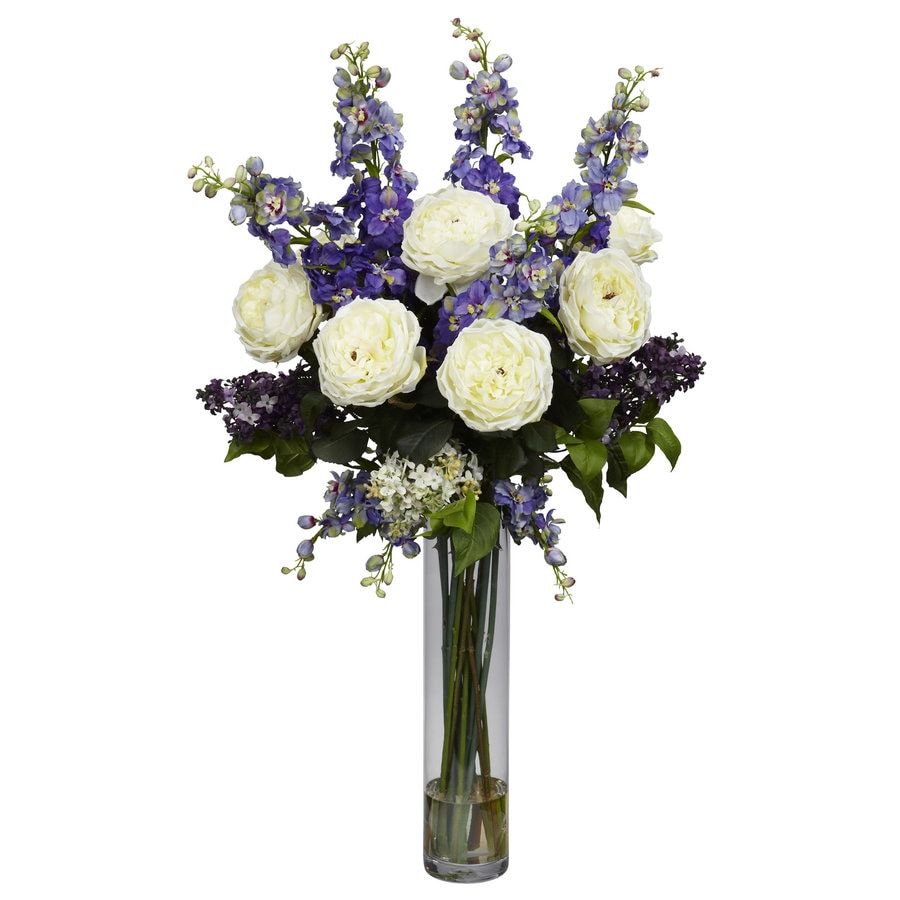 Nearly Natural 38-in Purple Silk Arrangement