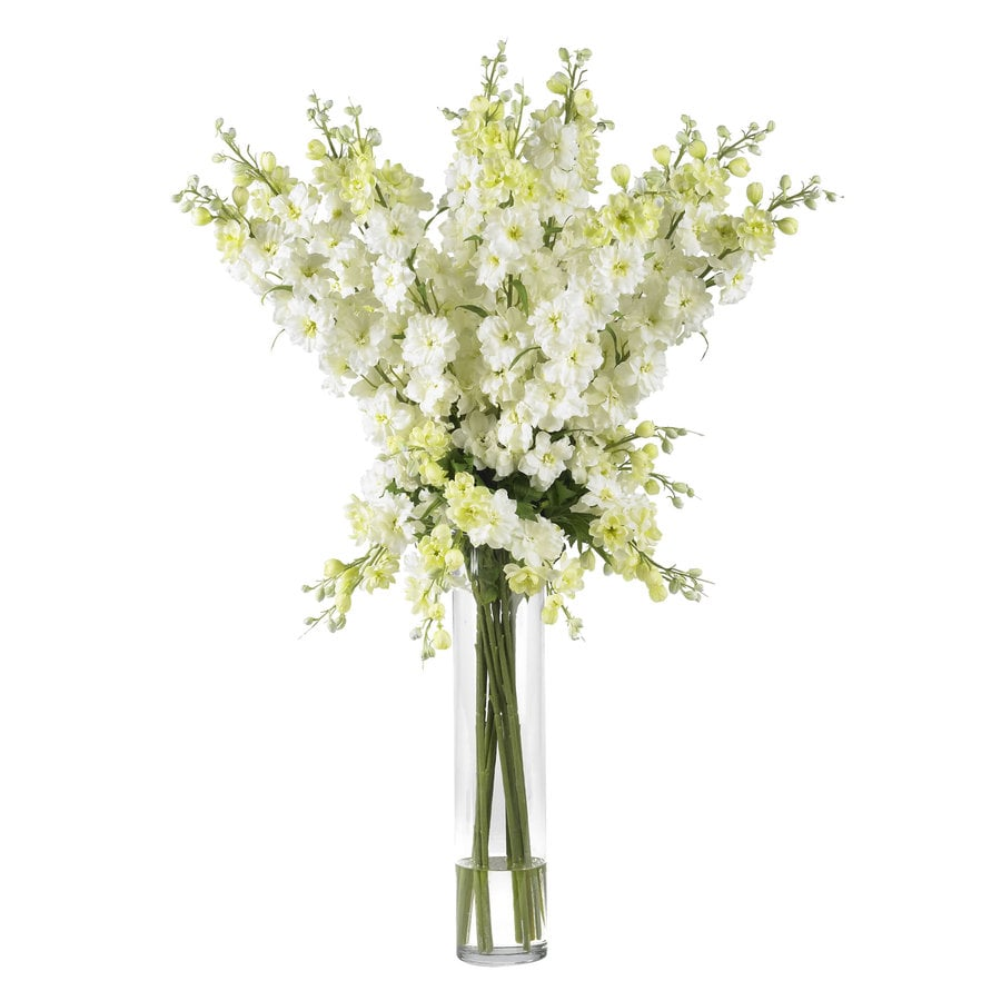 Nearly Natural 38-in White Silk Arrangement