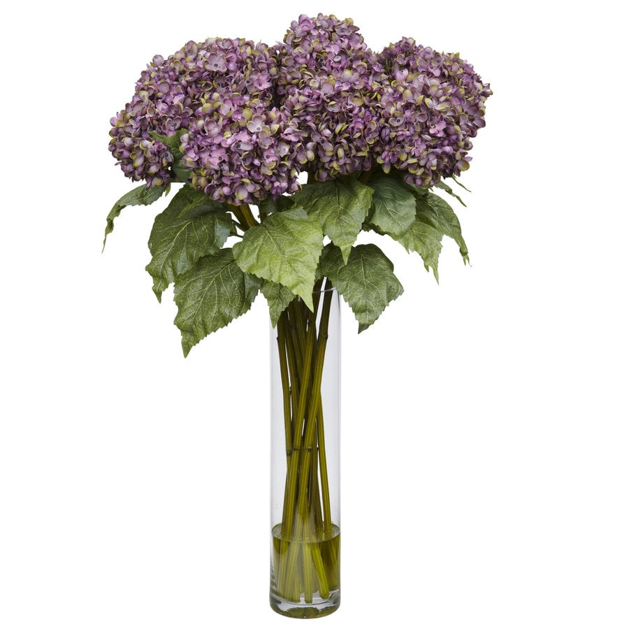 Nearly Natural 31-in Purple Silk Arrangement