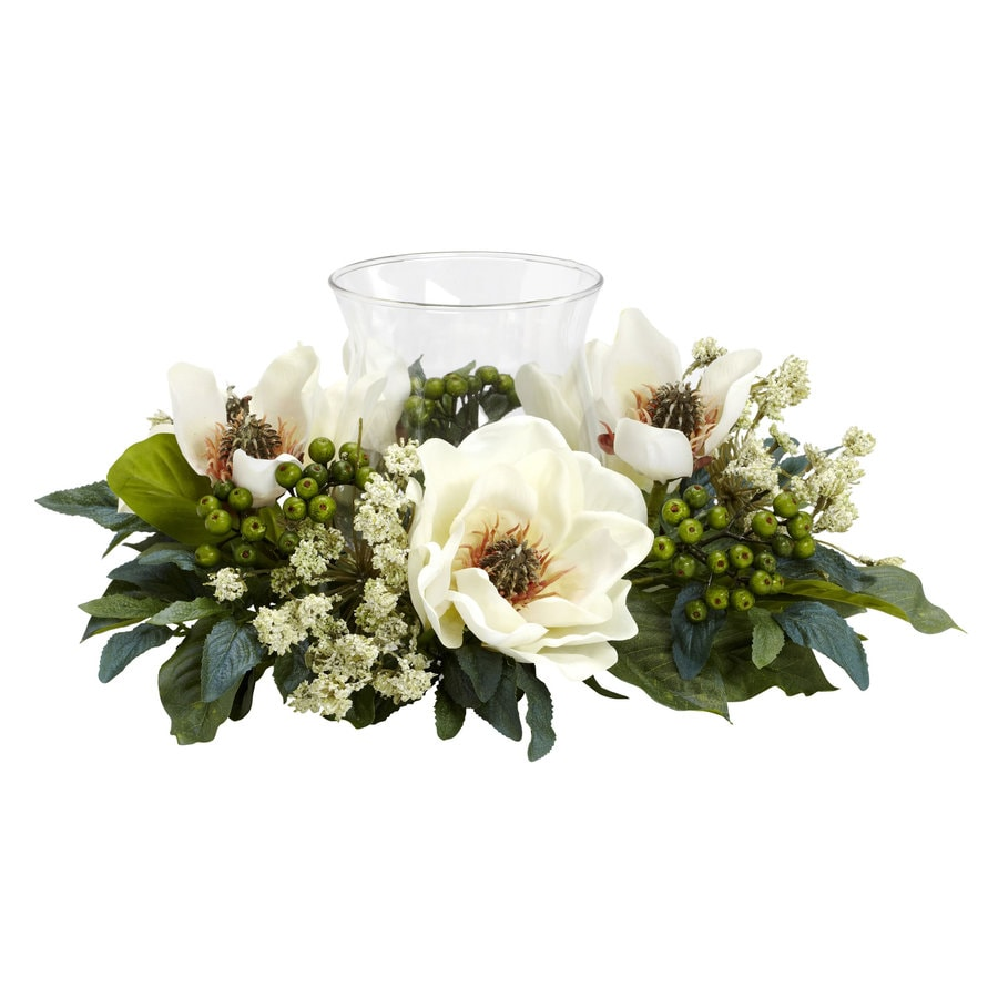 Nearly Natural 6.5-in White Silk Arrangement