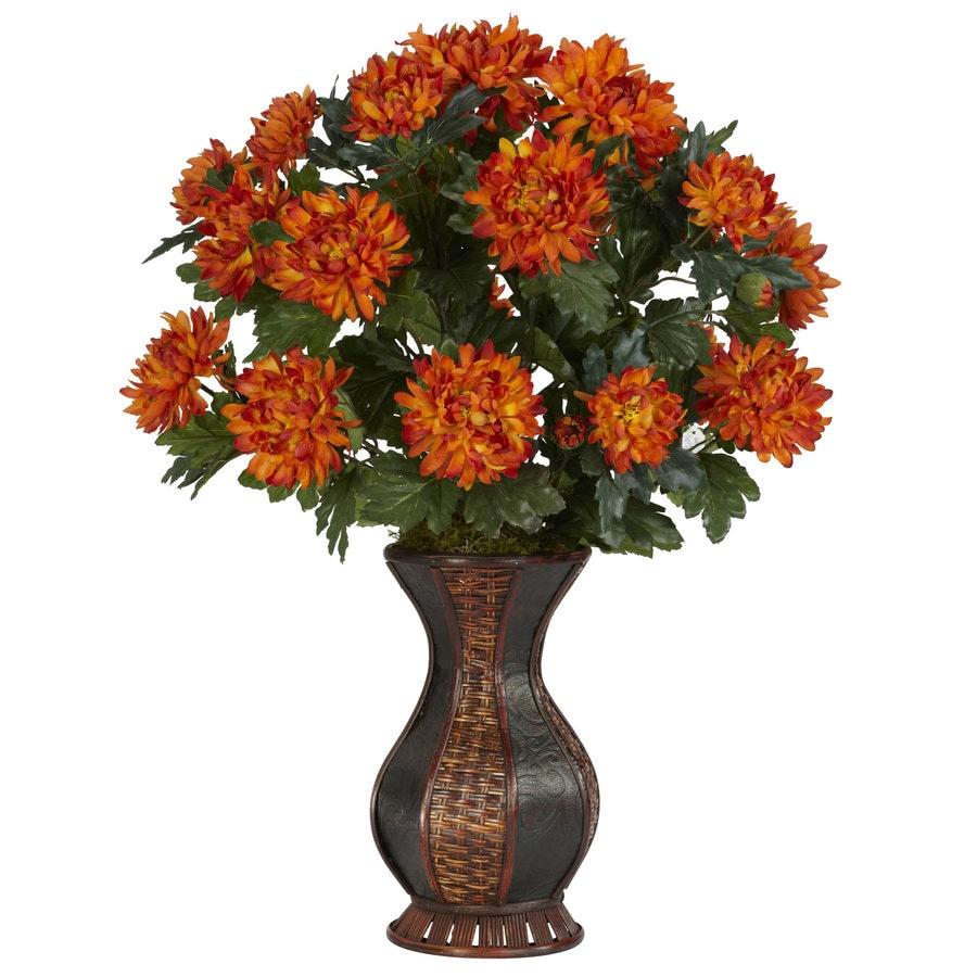 Nearly Natural 29-in Orange Silk Plant