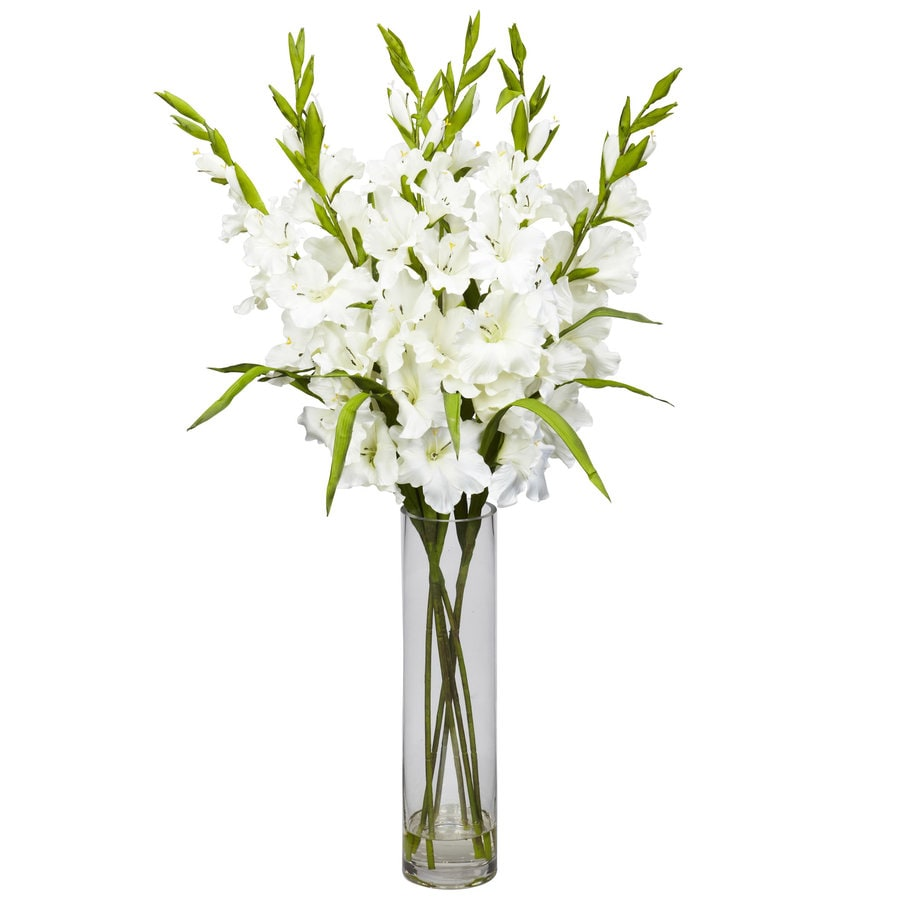 Nearly Natural 35-in White Silk Arrangement