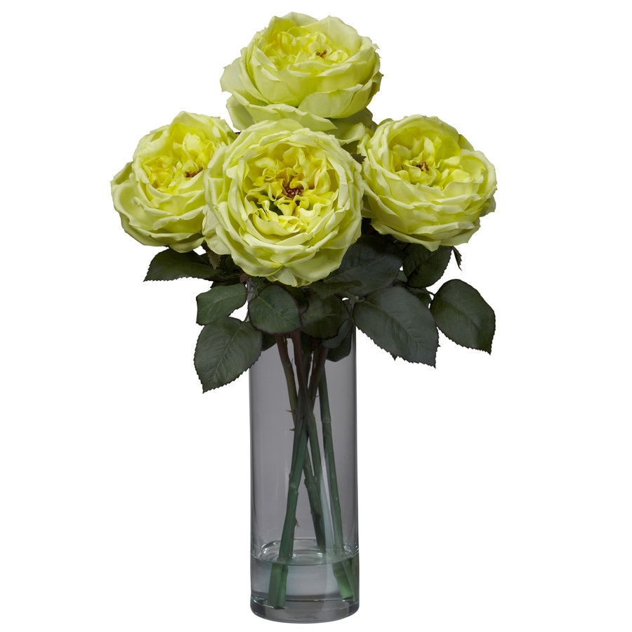 Nearly Natural 18-in Yellow Silk Arrangement