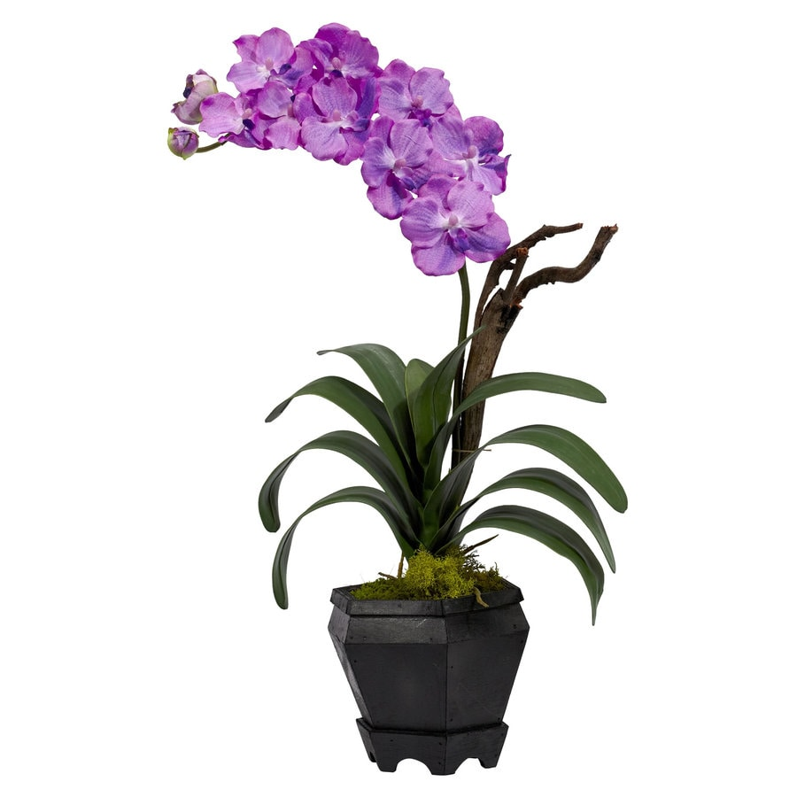 Nearly Natural 24-in Purple Silk Arrangement
