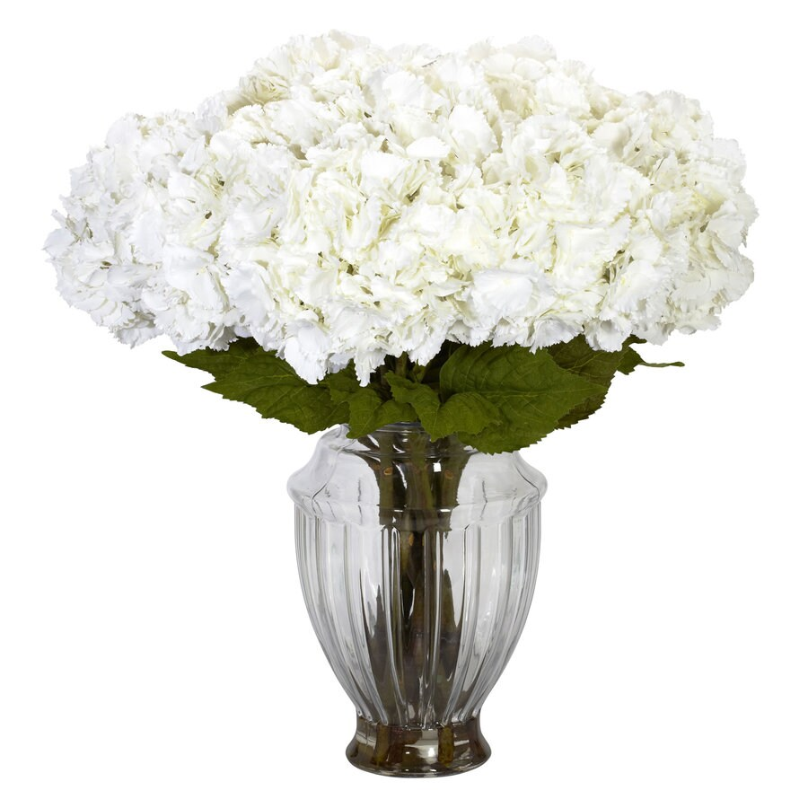Nearly Natural 23-in White Silk Arrangement