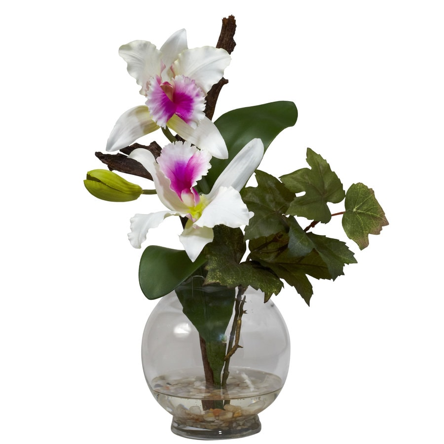 Nearly Natural 14.5-in White Silk Arrangement