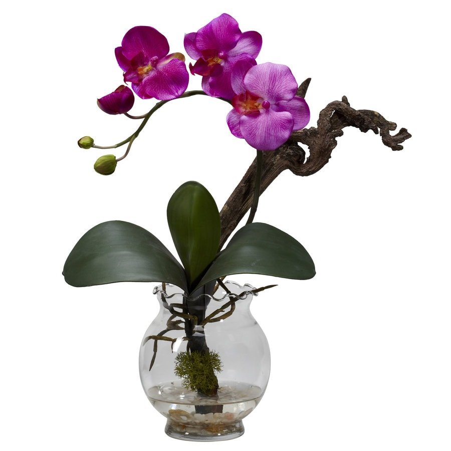 Nearly Natural 15-in Purple Silk Arrangement