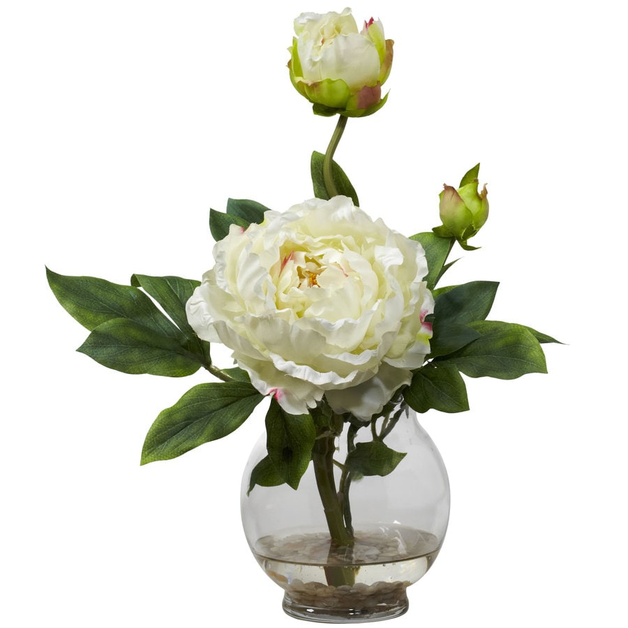 Nearly Natural 13.5-in White Silk Arrangement