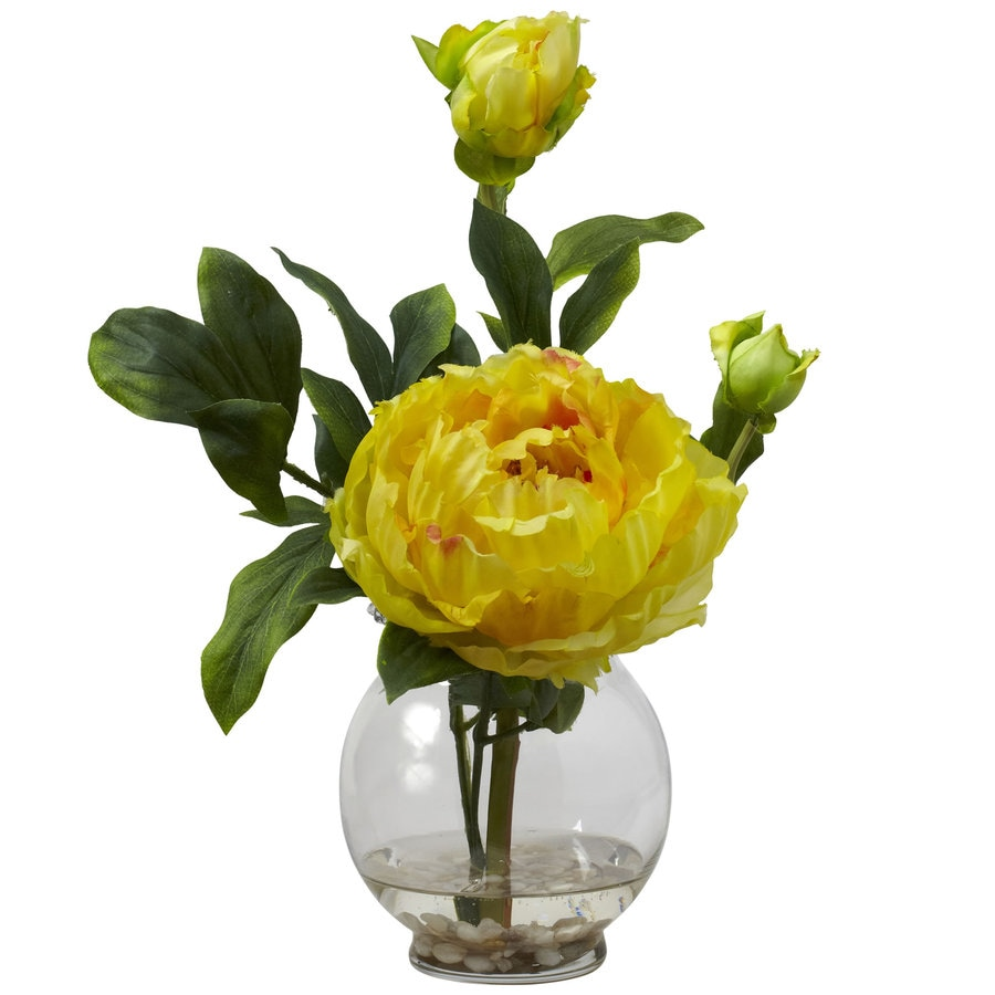 Nearly Natural 13.5-in Yellow Silk Arrangement