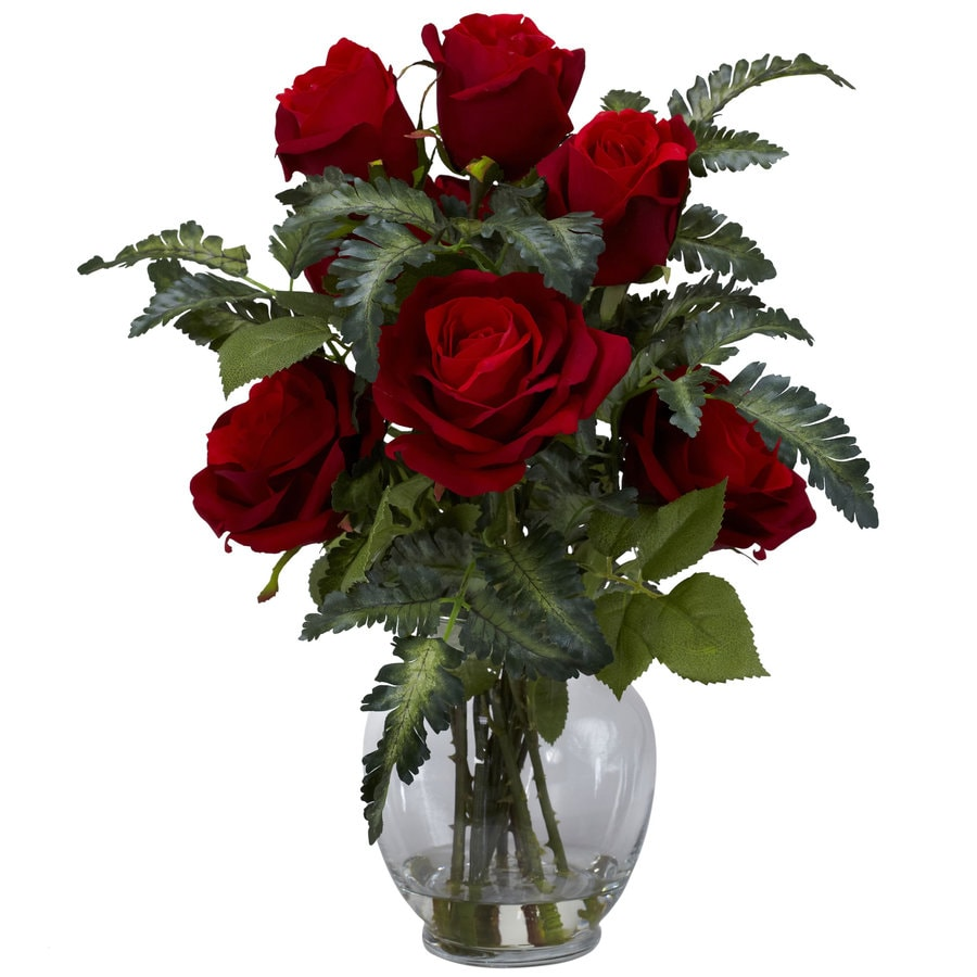 Nearly Natural 16-in Red Silk Arrangement