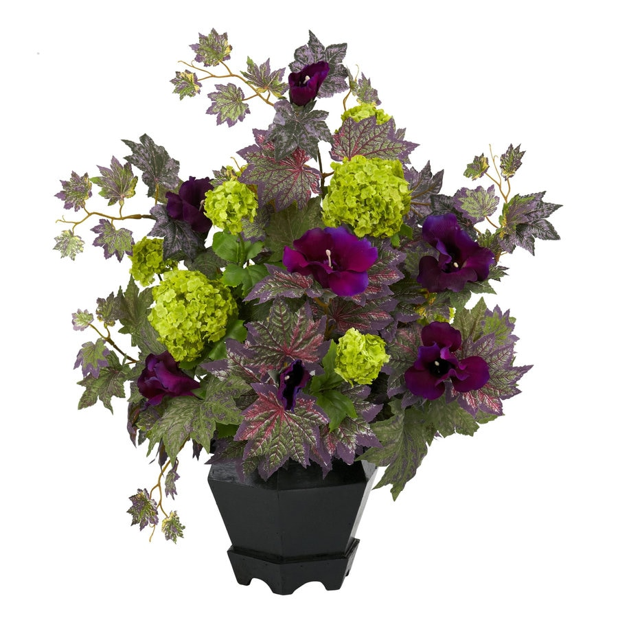 Nearly Natural 21-in Purple Silk Arrangement