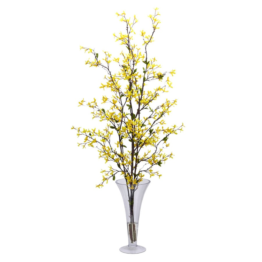 Nearly Natural 45-in Yellow Silk Arrangement