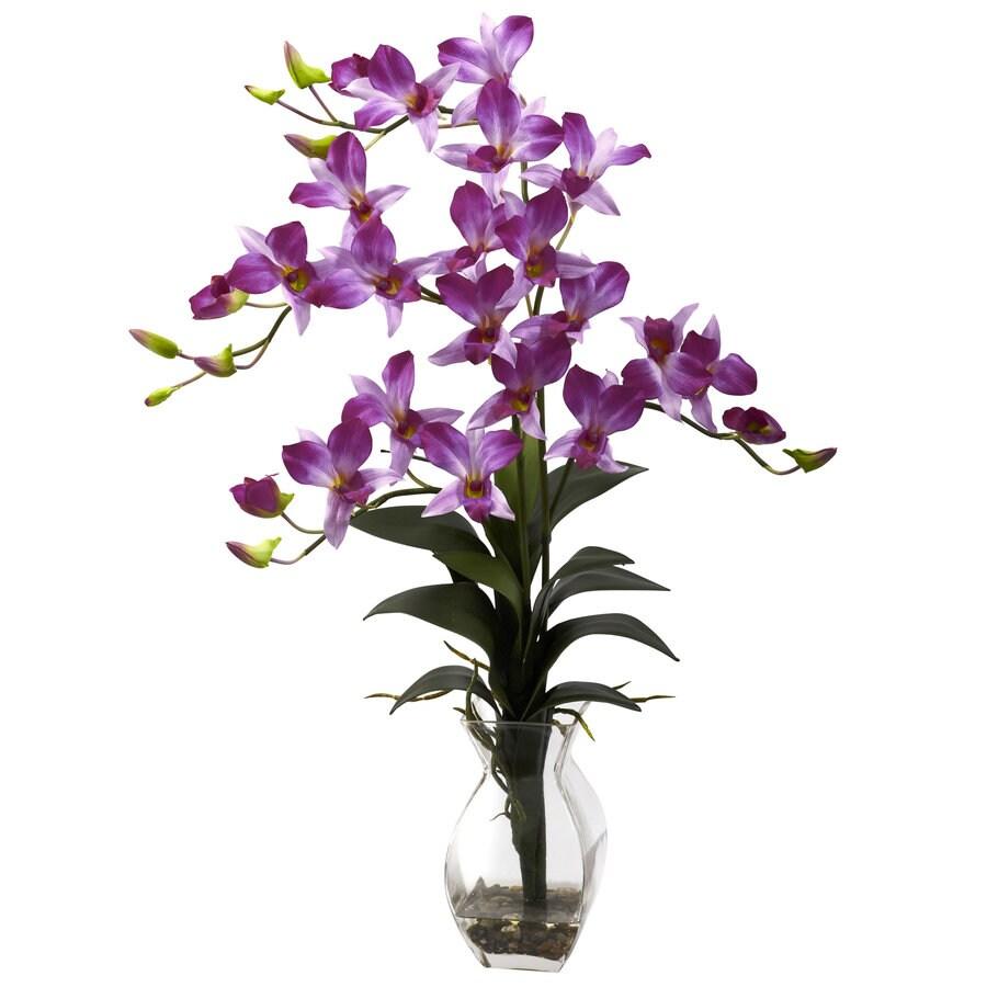Nearly Natural 23-in Purple Silk Arrangement
