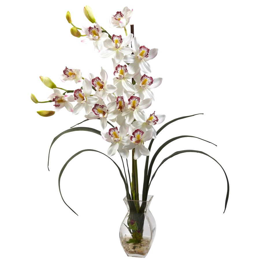 Nearly Natural 28-in White Silk Arrangement