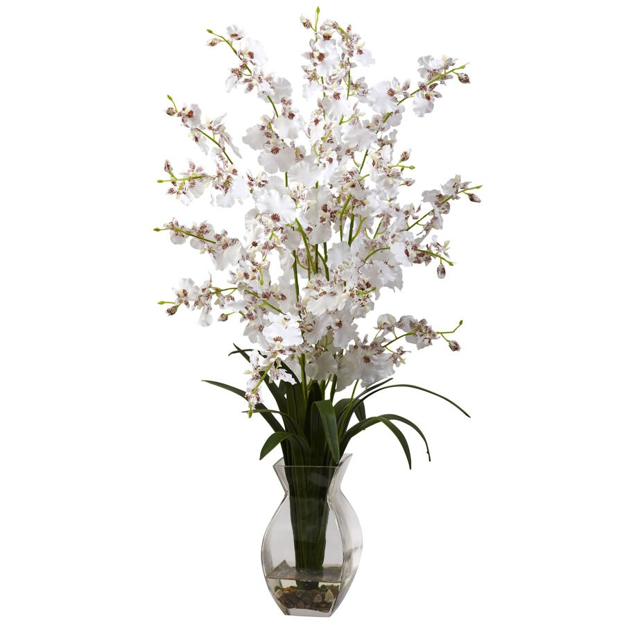 Nearly Natural 25-in White Silk Arrangement