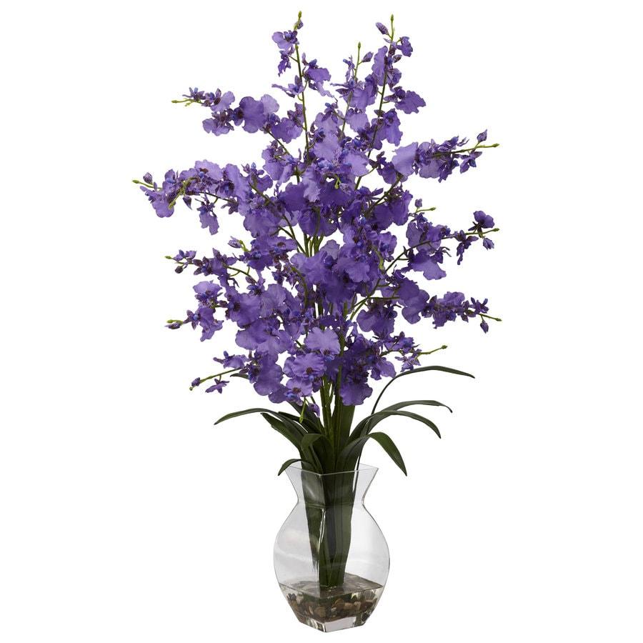 Nearly Natural 25-in Purple Silk Arrangement