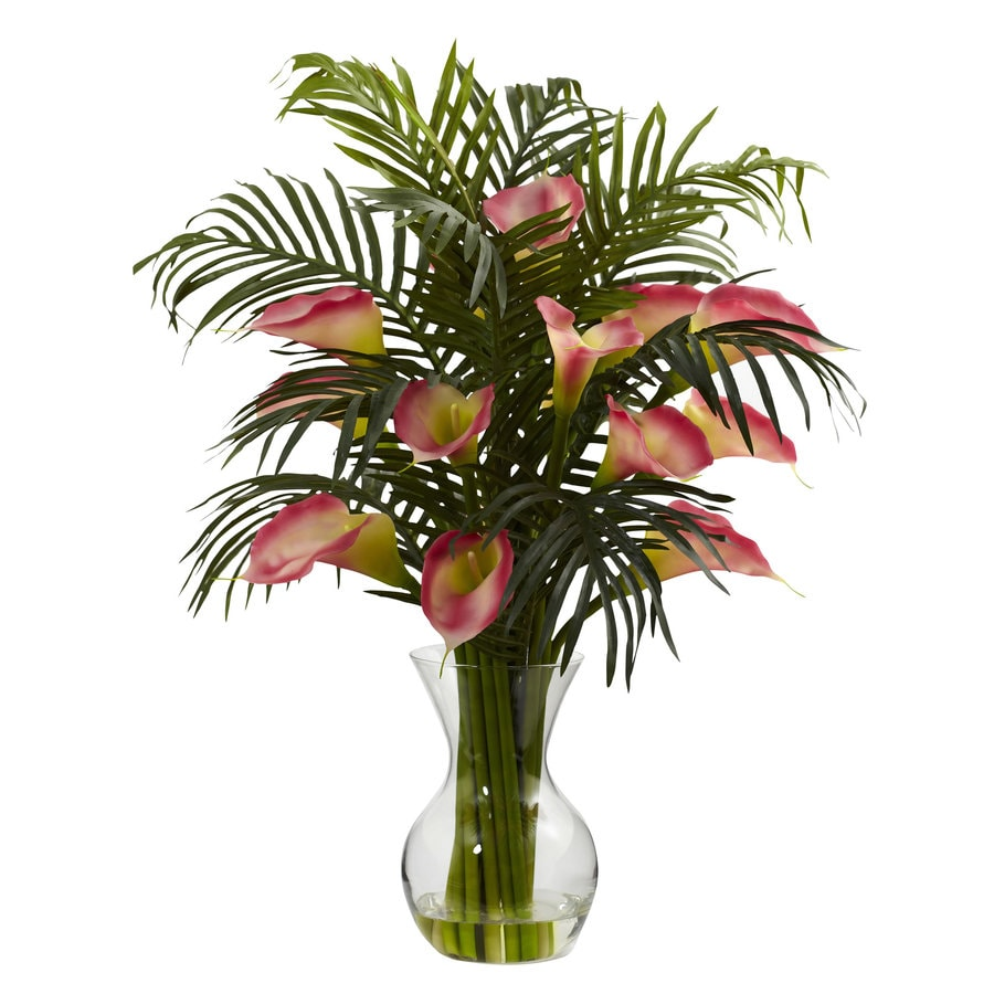 Nearly Natural 27-in Pink Silk Arrangement