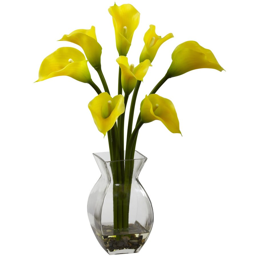 Nearly Natural 16-in Yellow Silk Arrangement