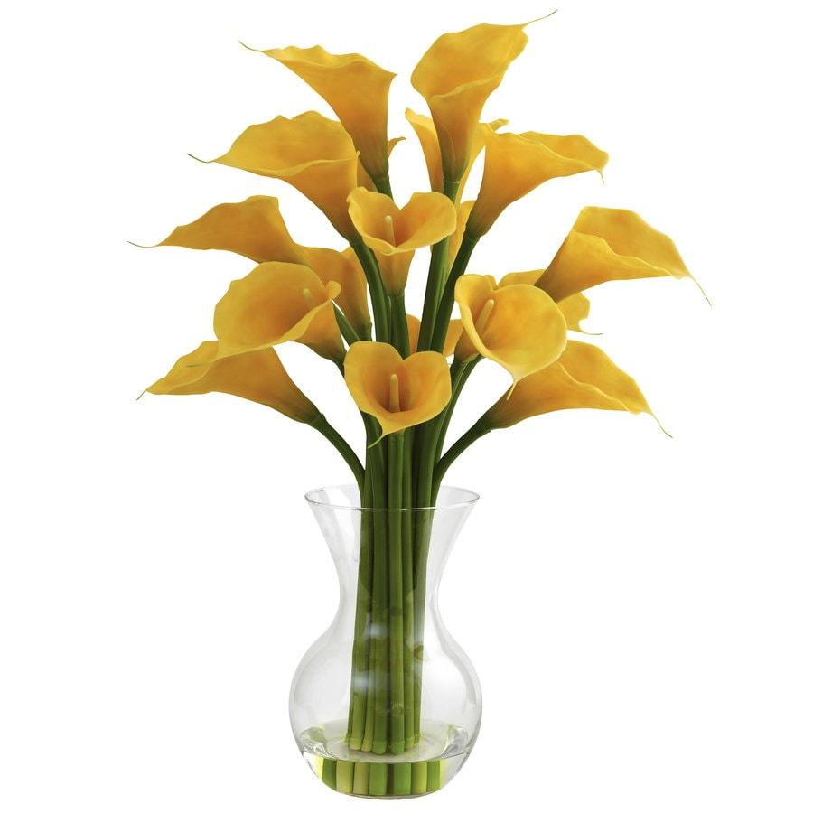 Nearly Natural 26-in Yellow Silk Arrangement