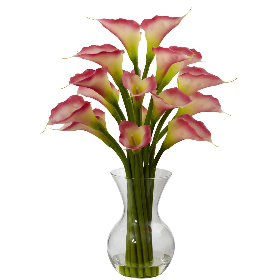Nearly Natural 26-in Pink Silk Arrangement