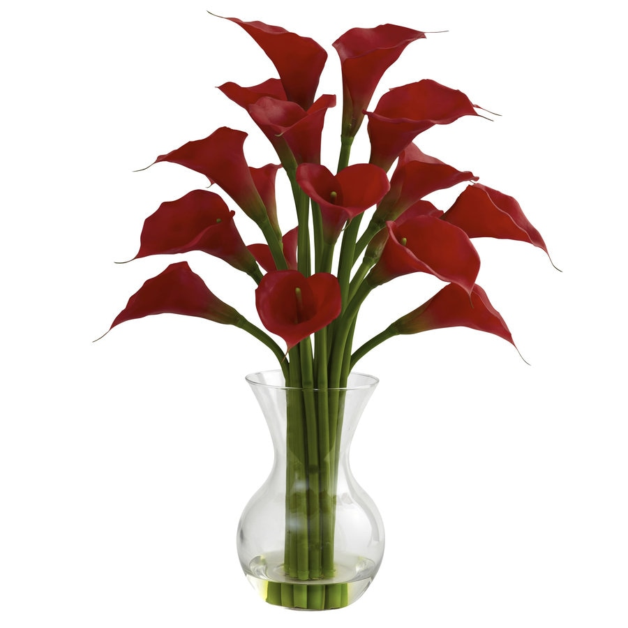 Nearly Natural 26-in Red Silk Arrangement