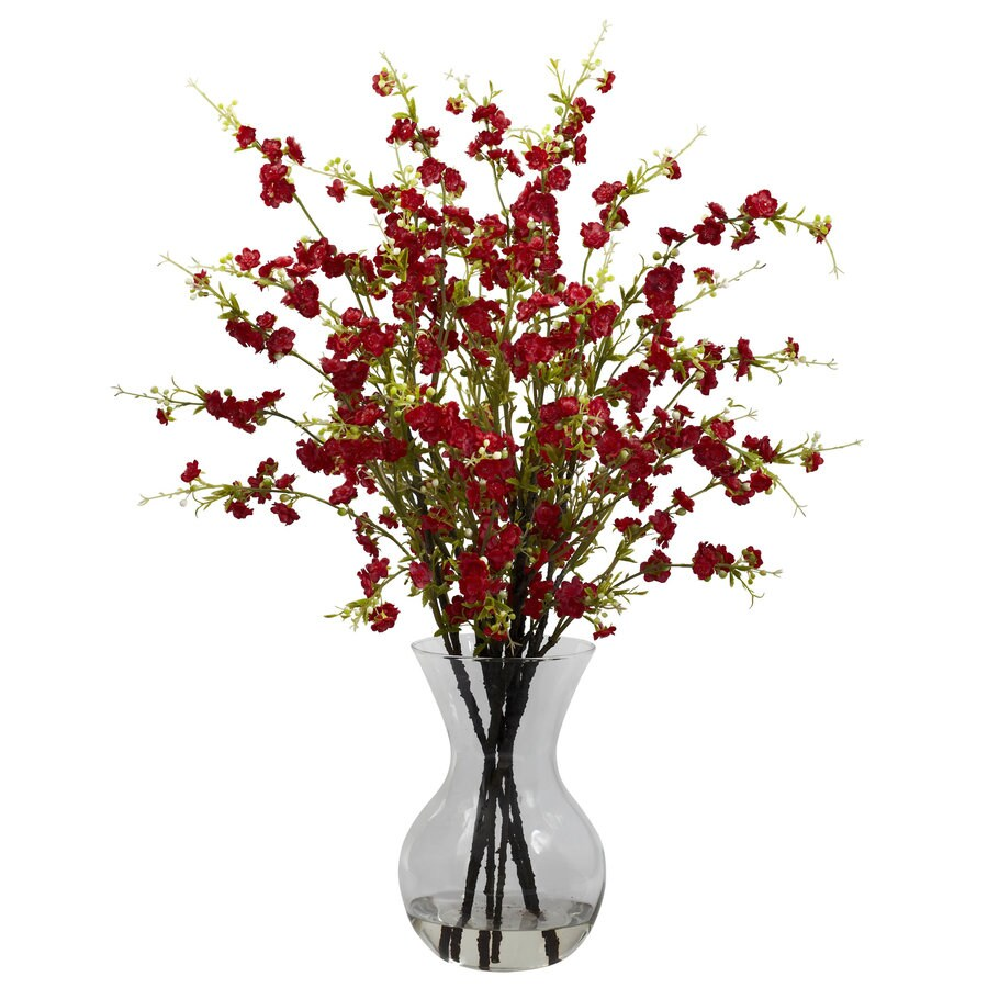 Nearly Natural 30-in Red Silk Arrangement