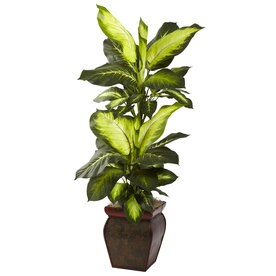 Nearly Natural 45 In Green Artificial Silk Plant