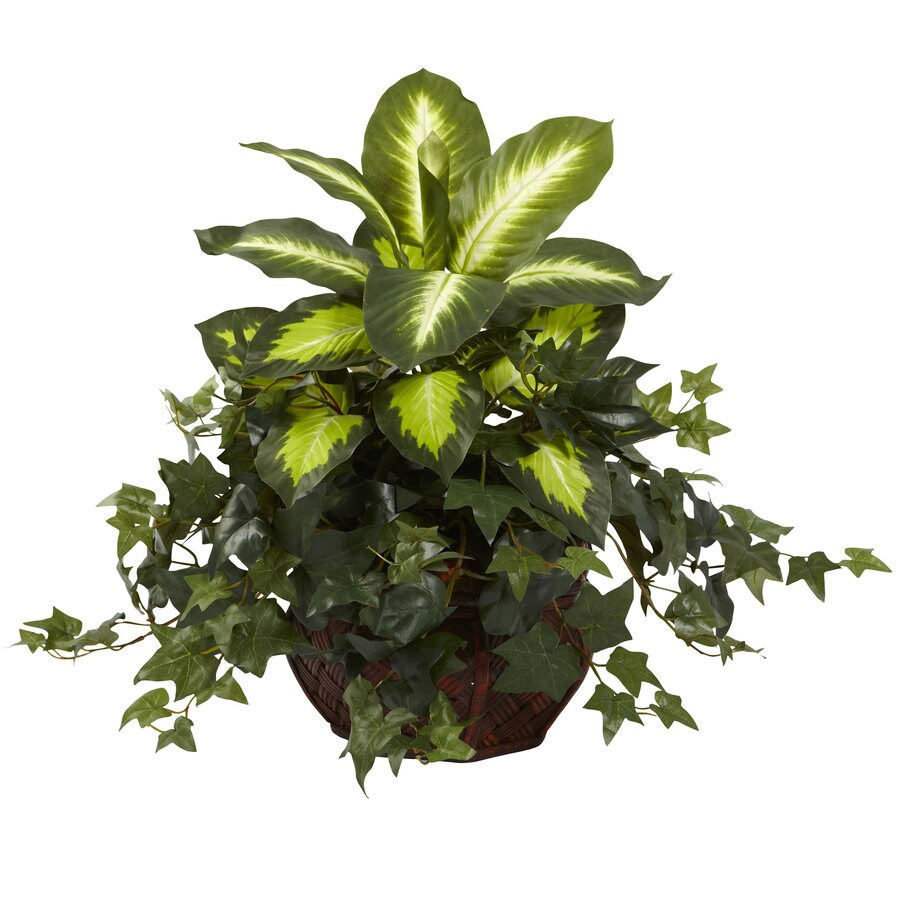 Nearly Natural 20-in Green Silk Plant