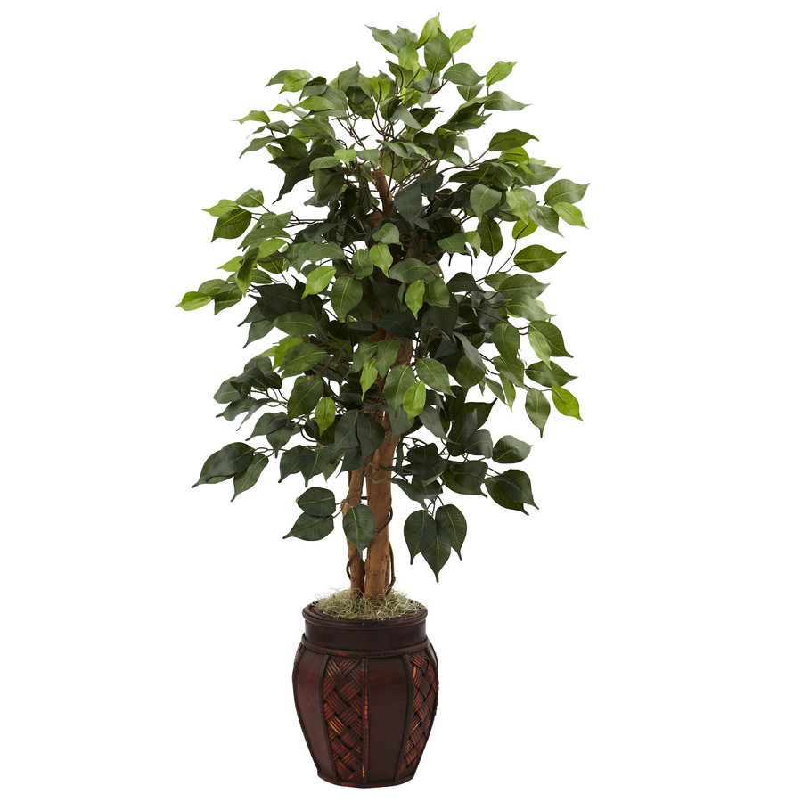 Nearly Natural 44-in Green Silk Tree