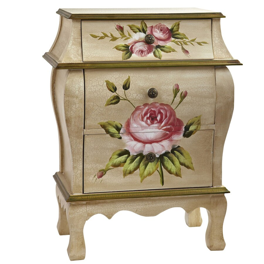 Nearly Natural 26.5-in Beige/Pink/Gold Furniture