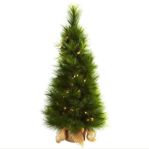 50 Foot Christmas Tree: Nearly Natural 3-ft Pre-Lit Slim Artificial Christmas Tree