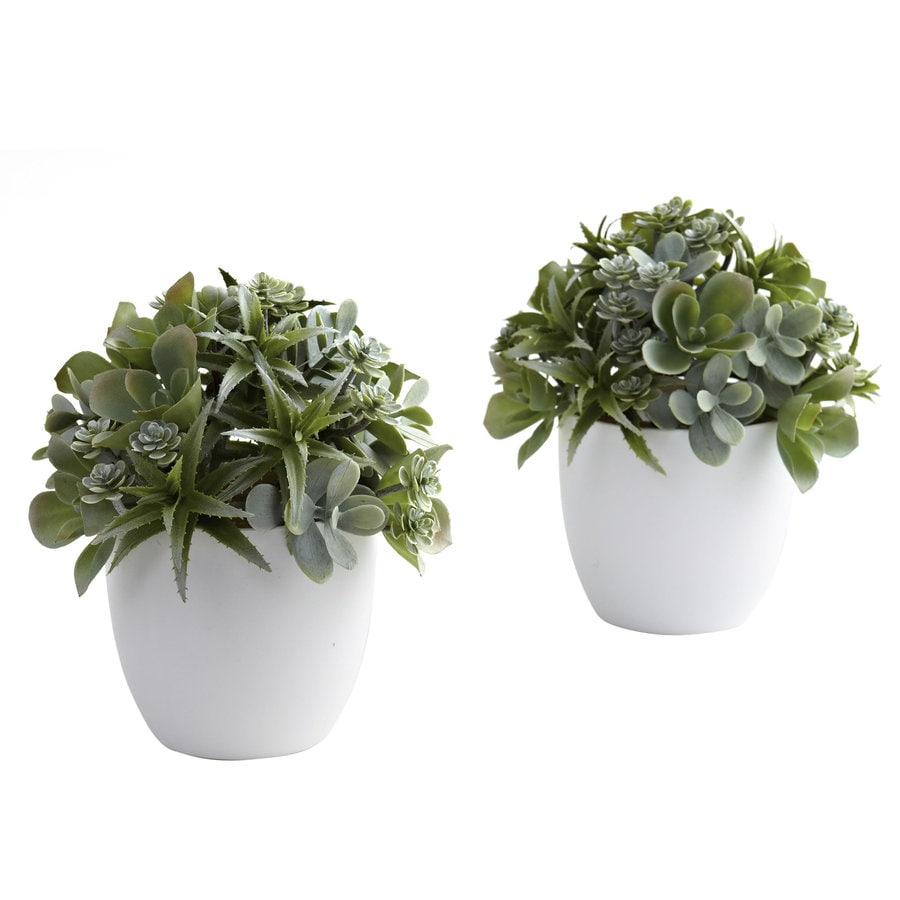 Nearly Natural 8-in Green Silk Plant