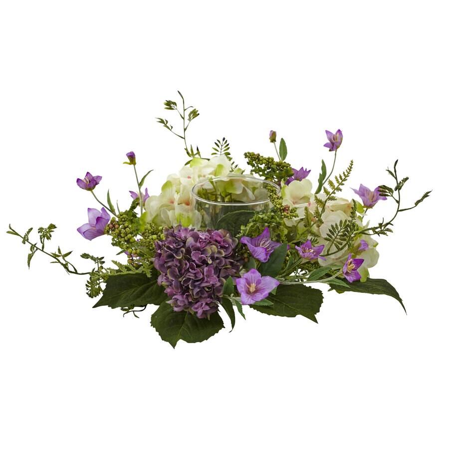 Nearly Natural 7-in Purple Hydrangea
