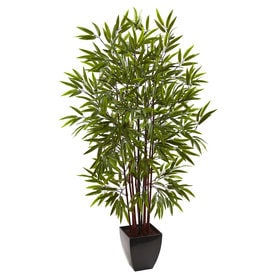 Shop artificial plants at lowes nearly natural 60 in green artificial bamboo mightylinksfo