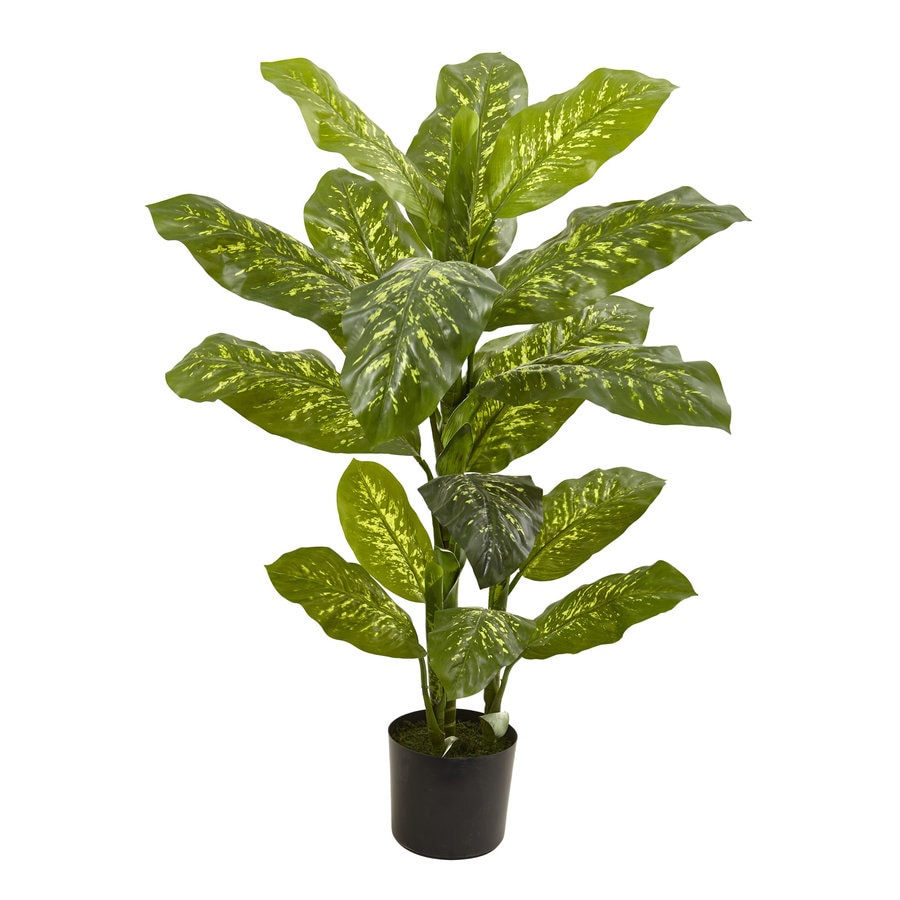 Nearly Natural 48-in Green Dieffenbachia