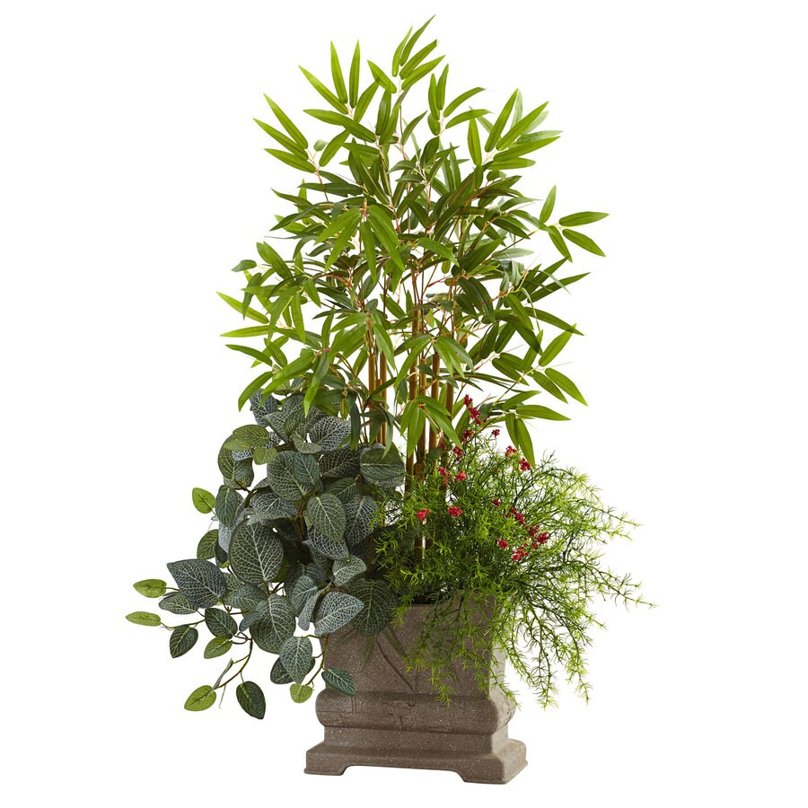 Nearly Natural 38-in Green Bamboo