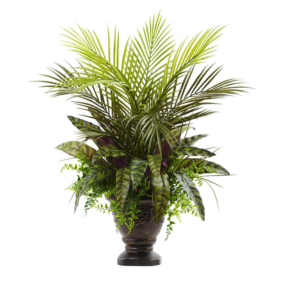 Nearly Natural 27-in Green Palm
