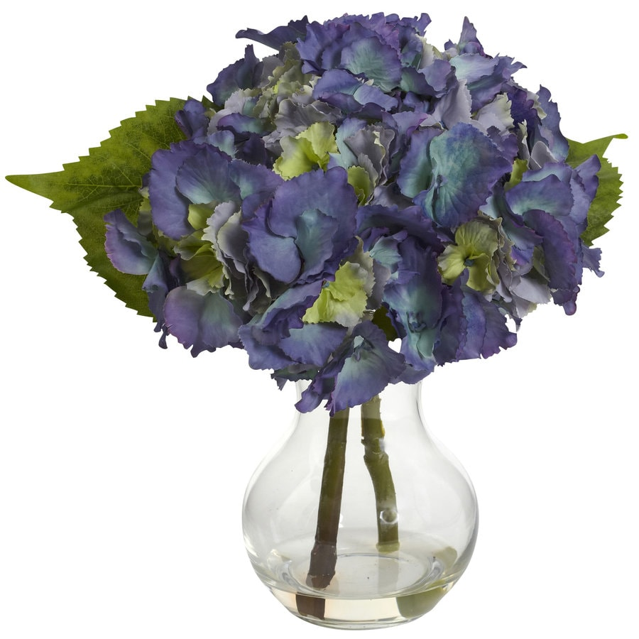 Nearly Natural 13-in Blue Silk Arrangement