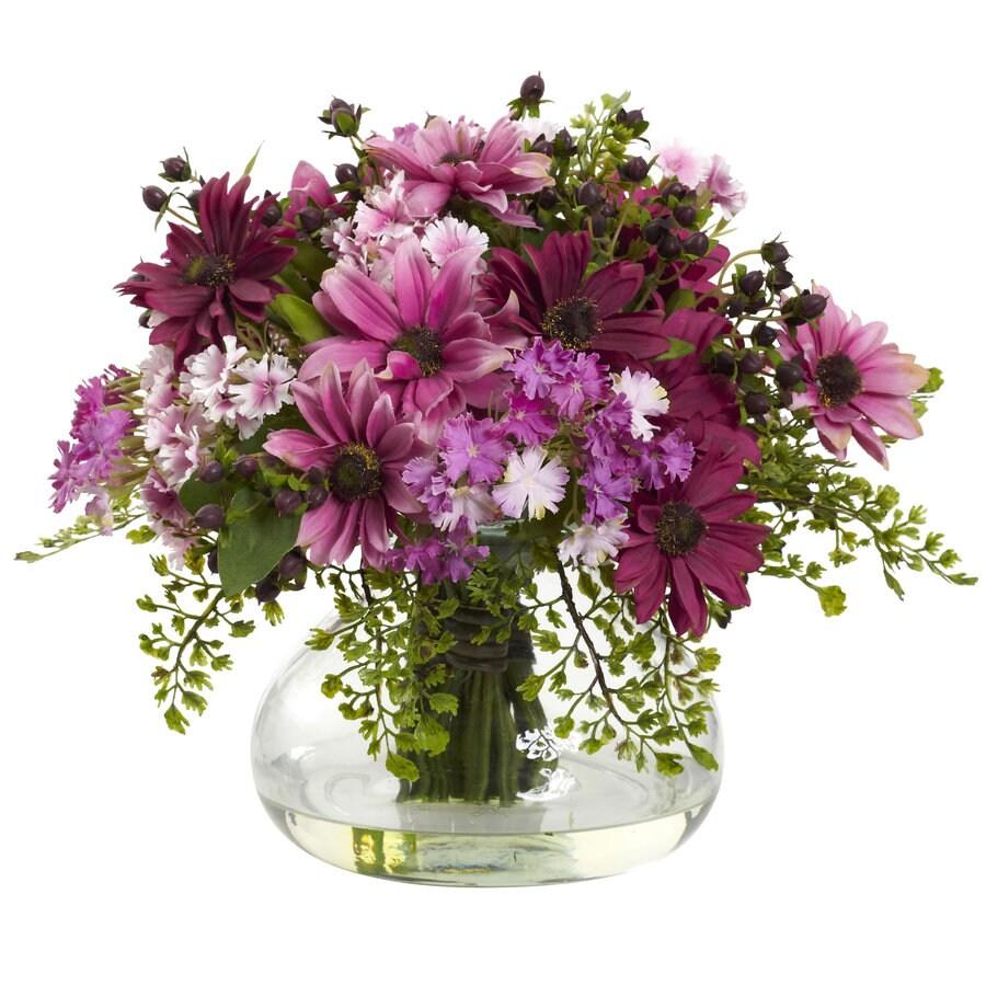 Nearly Natural 12-in Pink Silk Arrangement