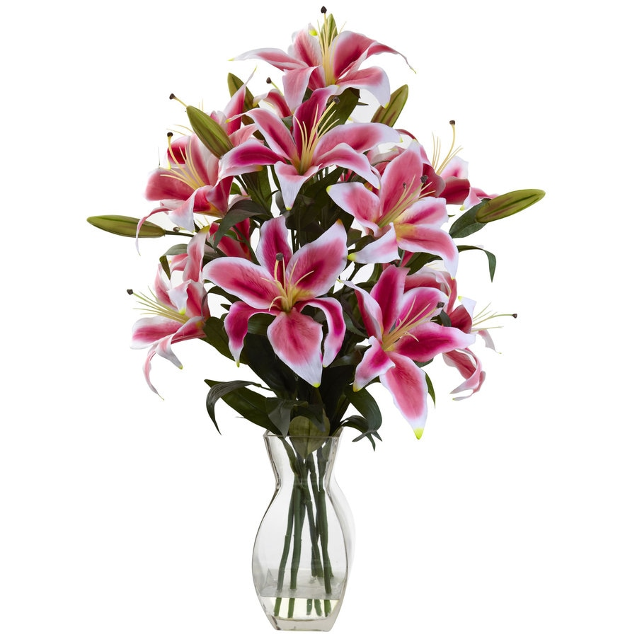 Nearly Natural 28-in Pink Silk Arrangement