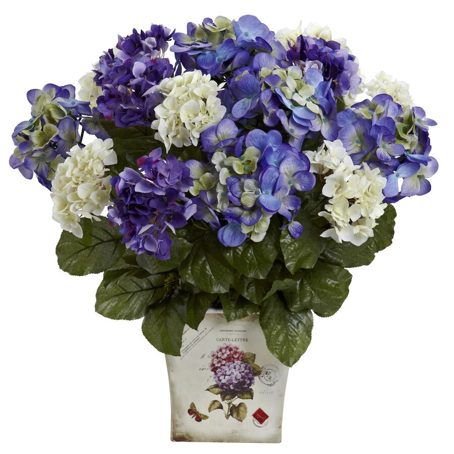 Nearly Natural 11-in Blue/Purple Silk Arrangement