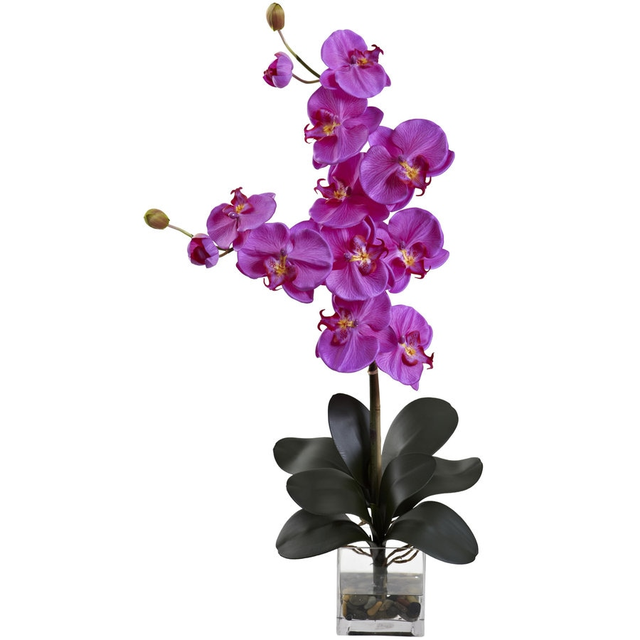 Nearly Natural 30.75-in Orchid Silk Arrangement