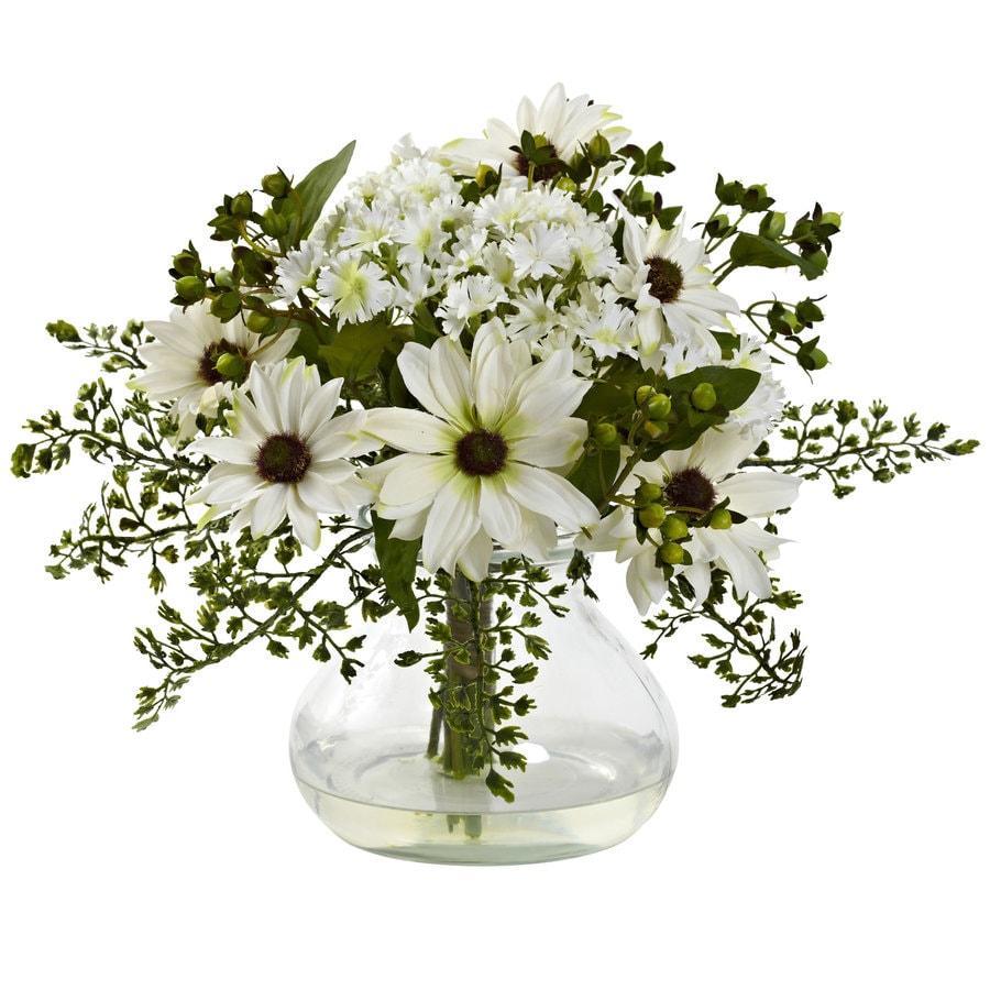 Nearly Natural 11.5-in White Silk Arrangement
