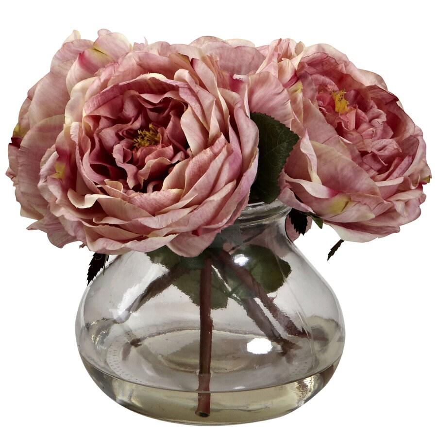 Nearly Natural 8-in Pink Silk Arrangement