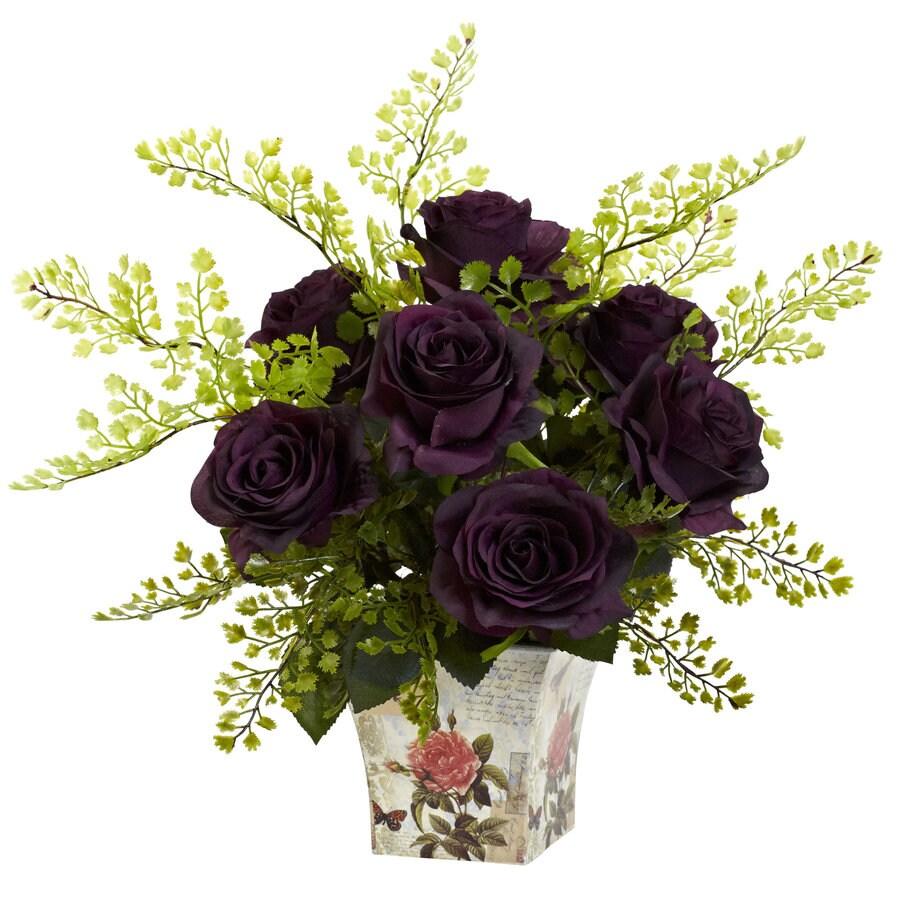 Nearly Natural 13-in Purple Silk Arrangement