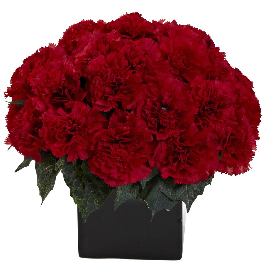 Nearly Natural 11-in Red Silk Arrangement