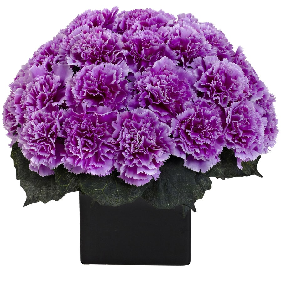 Nearly Natural 11-in Purple Silk Arrangement