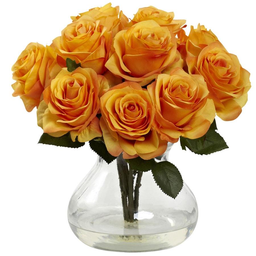 Nearly Natural 11-in Orange Silk Arrangement